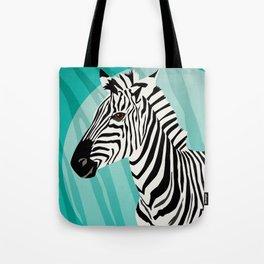 Zebra style: pretty in turquoise Tote Bag