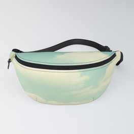 Mint Turquoise Sky Clouds, Teal Nursery Cloud Photography, Baby's Room Photo Fanny Pack