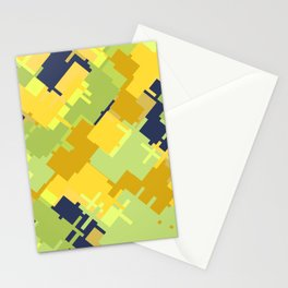 Hide and seek with kangaroo: trendy modern colors from rectangles Stationery Cards