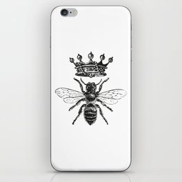 Queen Bee   Black and White iPhone Skin