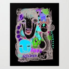 """""""Mute Assumer"""" Art Print"""