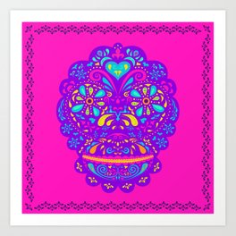Chango calavera Art Print