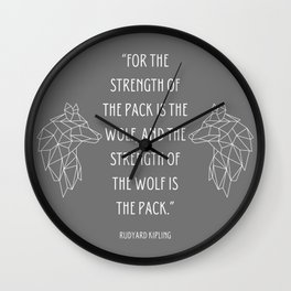 Rudyard Kipling Quote Wall Clock