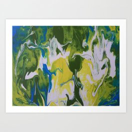 Falling together Art Print