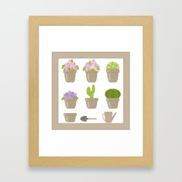 A wonderful design for those who are fond of plants , flowers . Framed Art Print