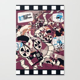 Bicycle Film Festival Canvas Print
