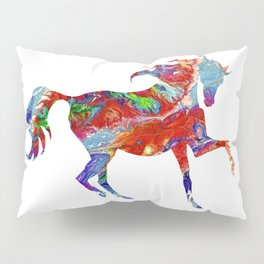 Horse Colorful Silhouette Pillow Sham