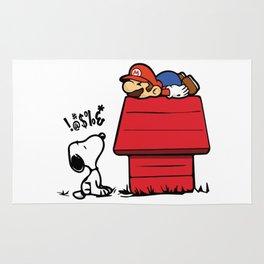 Snoopy vs Mario Rug
