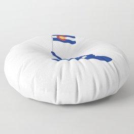 Colorado Snowboard Flag Floor Pillow
