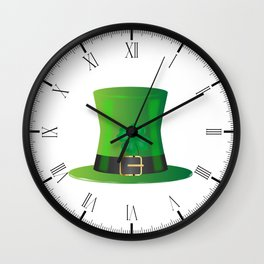 Irish Green Top Hat Wall Clock