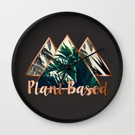 Plant Based Tri Wall Clock