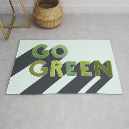 GO GREEN - typography Rug