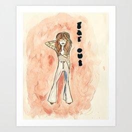 70's Girl Art Print