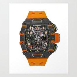 Richard Mille 11-03 MCL Orange Quartz and Carbon TPT Flyback Chronograph 50MM Art Print