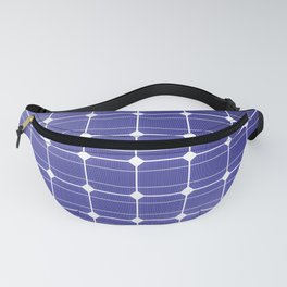 In charge / 3D render of solar panel texture Fanny Pack