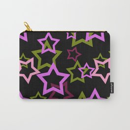 Star. Brightly colored on a black background . Carry-All Pouch