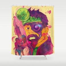 Dr. FraCryStein Shower Curtain