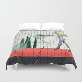 wrong path to selflessness Duvet Cover