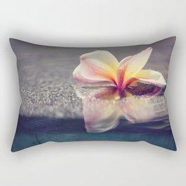 Floating Plumeria Blossom Rectangular Pillow