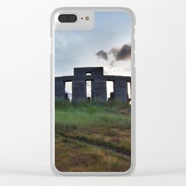 Stonehenge WWI Memorial Clear iPhone Case