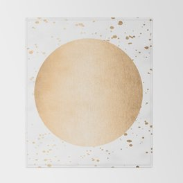 Sun Paint Spatter in Orange Sherbet Shimmer Throw Blanket