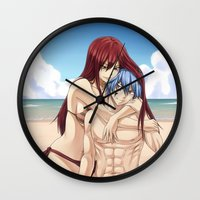 arya Wall Clocks featuring Warm Scarlet by Arya