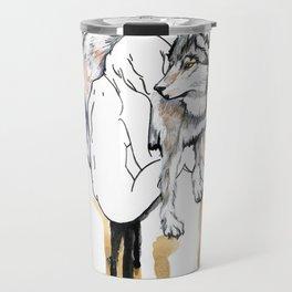 The Girl And The Wolf Travel Mug
