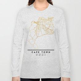 CAPE TOWN SOUTH AFRICA CITY STREET MAP ART Long Sleeve T-shirt
