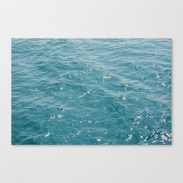 Surface of sea on summer Canvas Print