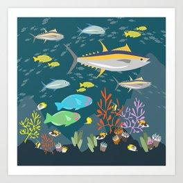 Hawaiian Reef Art Print