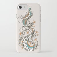 peacock iPhone & iPod Cases featuring Peacock by Tracie Andrews