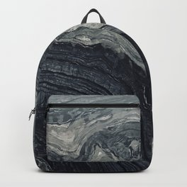 Dark Gray Marble Pattern Backpack