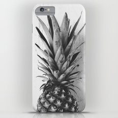 Black and white pineapple iPhone 6 Plus Slim Case