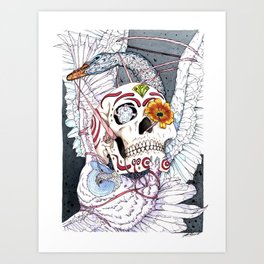 The Owl and the Swan Art Print