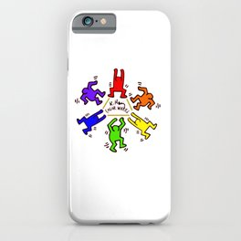 Keith Haring inspired Color Wheel iPhone Case