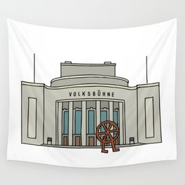 Volksbühne. Theater in East-Berlin Wall Tapestry