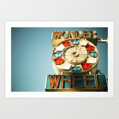 Wonder Wheel Art Print