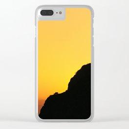 """Sunset at the mountains"". Boca de la Pescá""(1.512 meters). Clear iPhone Case"