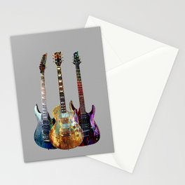 Sounds of music.Three Guitars. Stationery Cards
