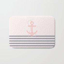 AFE Pink Nautical Anchor  Bath Mat