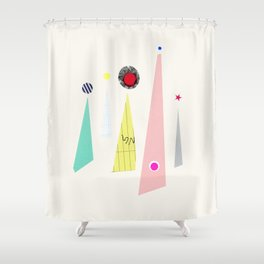 Abstract 001 Shower Curtain