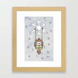 Winter Days greeting card by Nicole Janes Framed Art Print