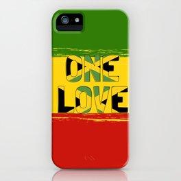 One Love Jamaica Rasta iPhone Case
