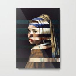 "Vermeer's ""Girl with a Pearl Earring"" & Grace Kelly Metal Print"