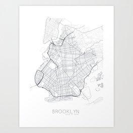 Made In Maps - Brooklyn Art Print