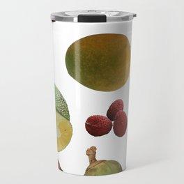 Exotic Fruit Collage Travel Mug