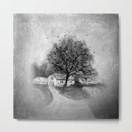 Retro: My little home -1- Metal Print