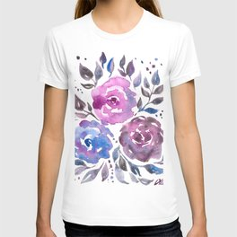 Dreamy Watercolor Flowers T-shirt