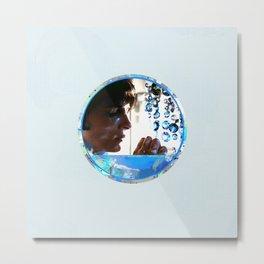 Crystals - Blue  Metal Print