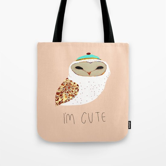 i'm cute owl illustration  Tote Bag